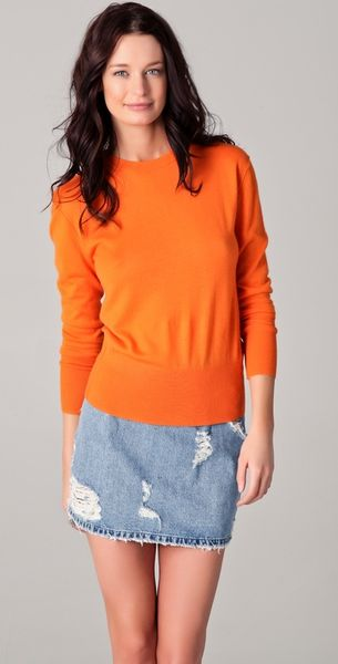 Acne Studios Lia Fine-knit Cashmere Sweater in Orange