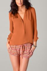Haute Hippie Collared Blouse - Lyst