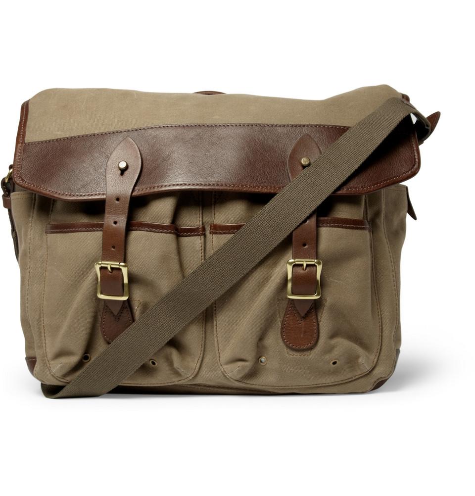 Waxed Cotton Shoulder Bag 71