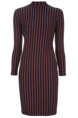 Jean Paul Gaultier Striped Dress - Lyst