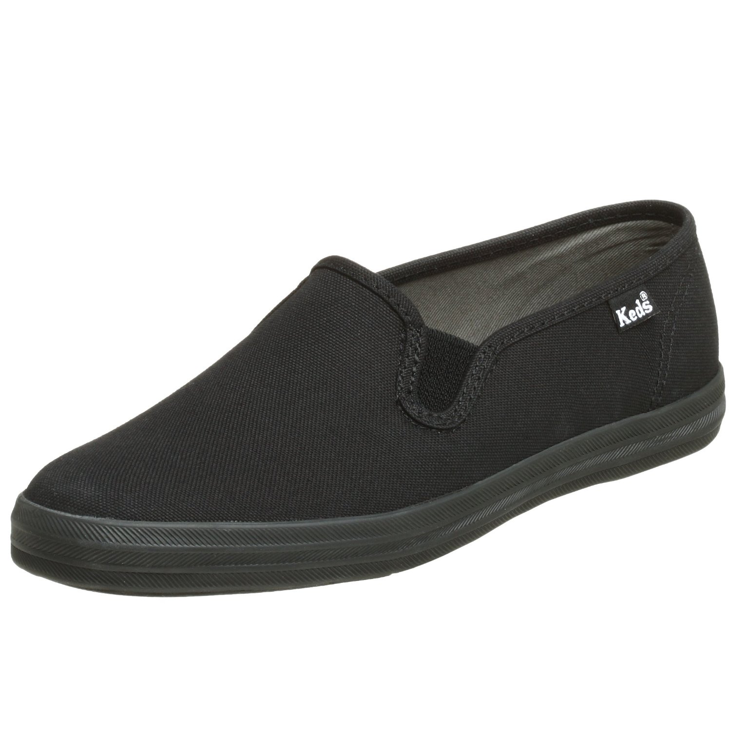 keds womens chion basic canvas slip on in black lyst