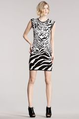 McQ by Alexander McQueen Intarsia-knit Tiger Dress - Lyst