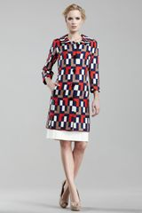 Milly Tania Printed Coat - Lyst