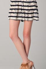 Nanette Lepore Talented Striped Shorts - Lyst