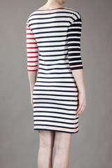 Sonia By Sonia Rykiel Striped Cotton Dress in Beige (cream) - Lyst