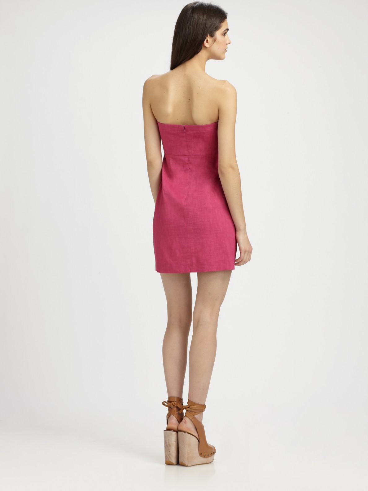 Theory Strapless Dress