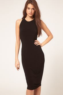 ASOS Collection Midi Dress with Embellished Knot Back - Lyst