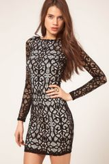 ASOS Collection Contrast Lace Bodycon Dress