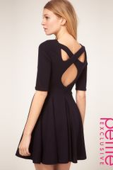 ASOS Collection Asos Petite Exclusive Cross Back Skater Dress - Lyst