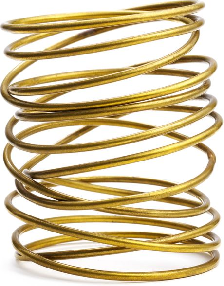 Kelly Wearstler Twisted Brass Bracelet in Brown (brass) - Lyst