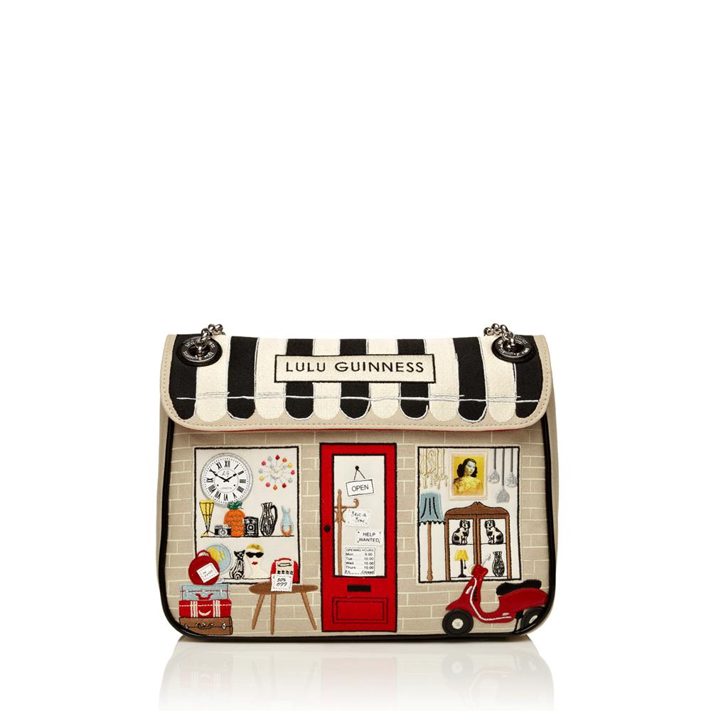 Lulu Guinness Stone Vintage Shop Large Annabelle Bag in ...
