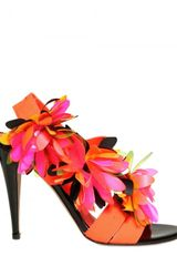 Blumarine 110mm Flower On Spandex Sandals - Lyst