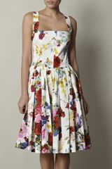 Dolce & Gabbana Butterflyprint Cotton Dress in Floral (white) - Lyst