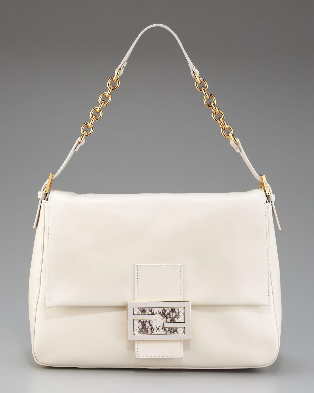 Fendi Big Mama Leather Shoulder Bag 105
