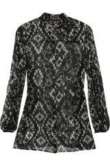 Giambattista Valli Printed Silk-georgette Blouse - Lyst