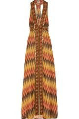 Haute Hippie Embellished Silk-crepe Maxi Dress - Lyst