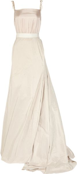 Lanvin Taffeta and Silk Gown in Pink (blush) - Lyst