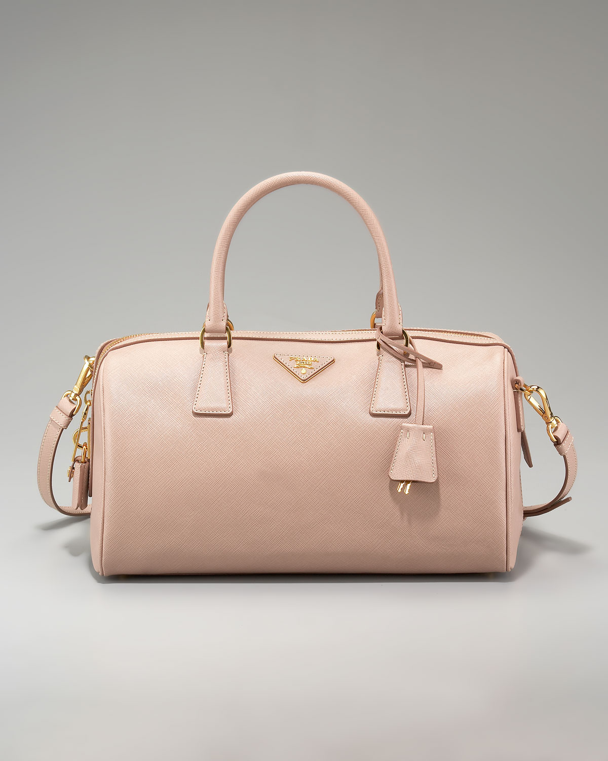 ba6d22d29646 ... leather caramel promenade ladies top handle bag 7f909 fdb78 france lyst prada  saffiano lux top handle bag in pink 076c7 849ea ...
