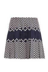 Sea Polka-dot Pleated Skirt - Lyst