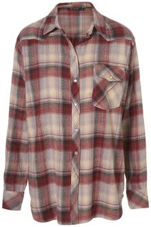 Topshop Williamsburg Oversize Check Shirt - Lyst