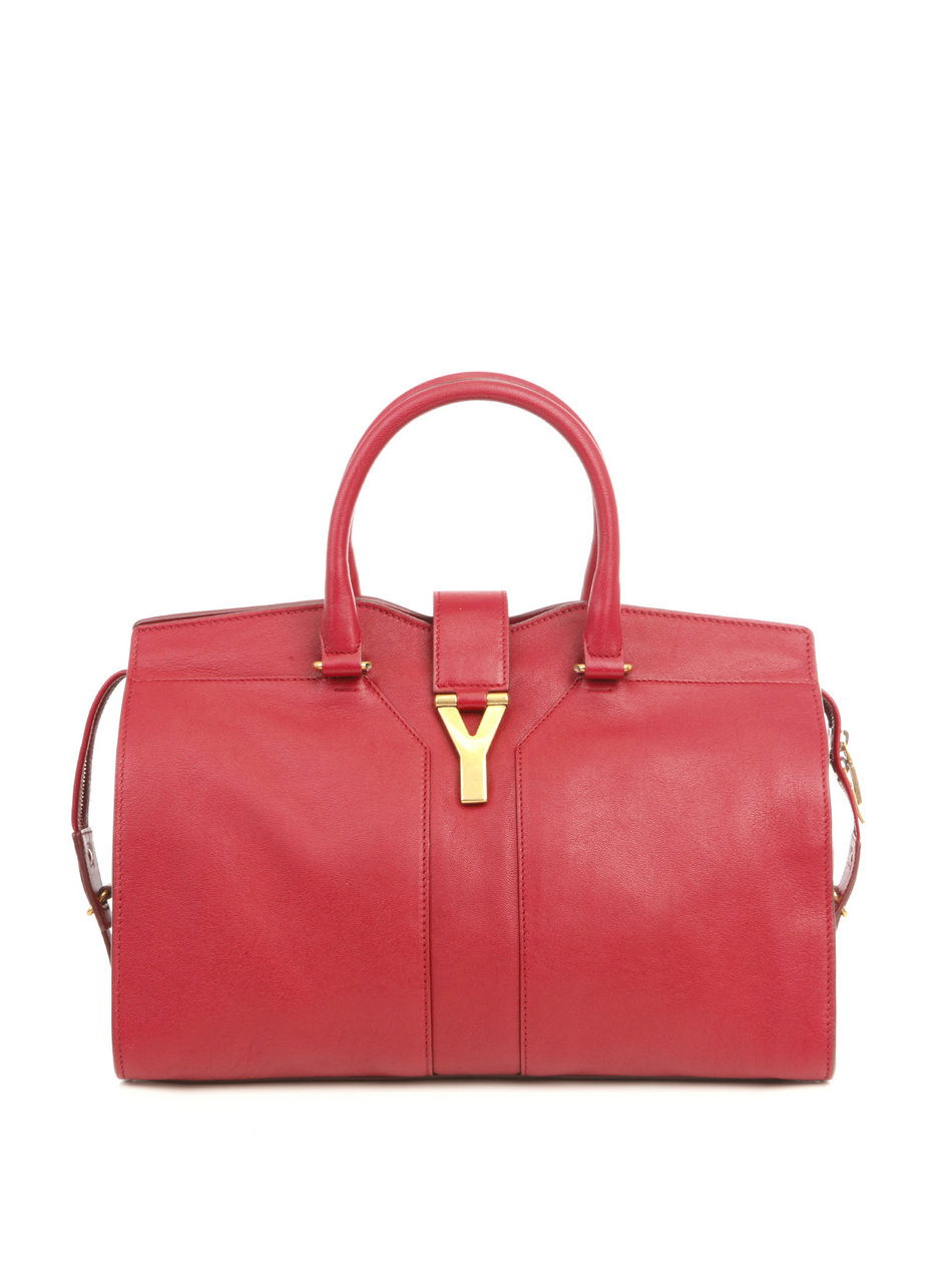 ysl chain shoulder bag - Saint laurent Small Chyc Supple Bag in Pink (raspberry) | Lyst