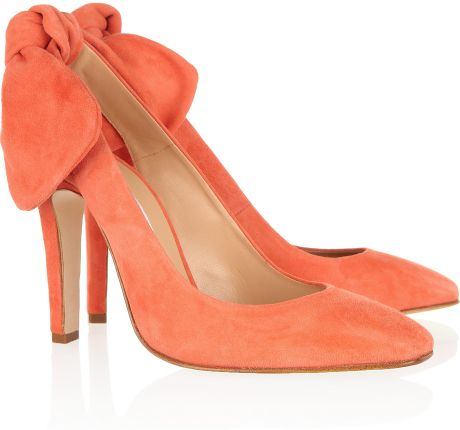 Carven Suede Slingbacks in Orange - Lyst