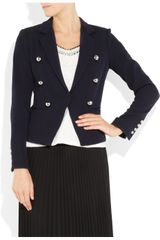 Elizabeth And James Sue Stretch Wooltwill Jacket in Black (navy) - Lyst