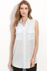 Equipment Sleeveless Silk Shirt - Lyst