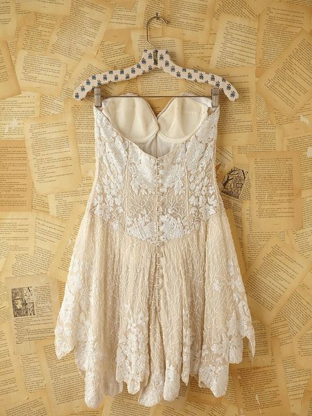 Free People Vintage Custom Beaded Dress In White Lyst