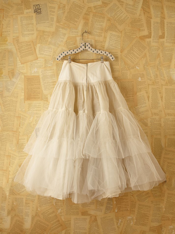 Lyst - Free People Vintage Tulle Skirt in White