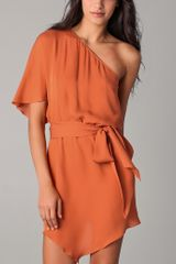 Haute Hippie Flutter Sleeve Mini Dress in Orange - Lyst