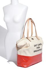 Kate Spade Call To Action  Terry Tote in Beige (eat cake for breakfast) - Lyst
