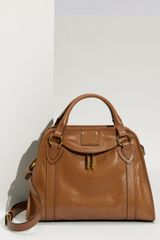 Marc Jacobs Classic Wellington Leather Satchel in Brown (camel) - Lyst