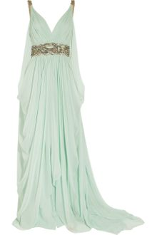 Marchesa Crystal-embellished Silk-chiffon Gown - Lyst