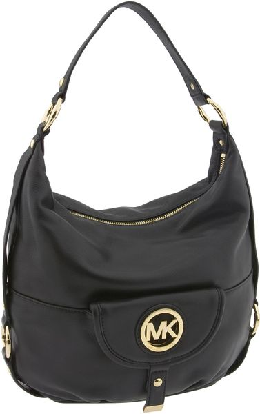 Michael Michael Kors Fulton Logo - Large Shoulder Bag in Black