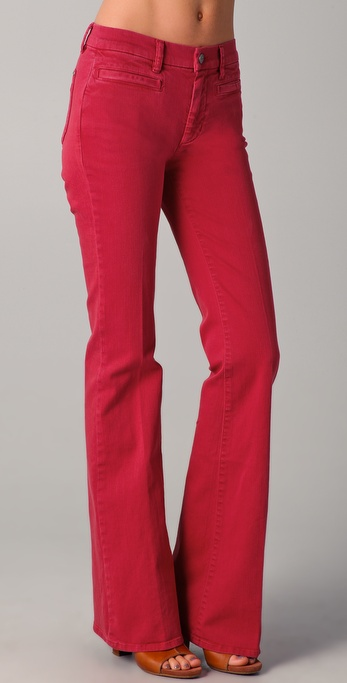 M.i.h jeans Marrakesh Kick Flare Jeans in Red | Lyst
