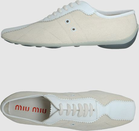Miu Miu Sneakers in White (ivory) - Lyst