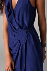 Parker Wrap Dress in Blue (navy) - Lyst