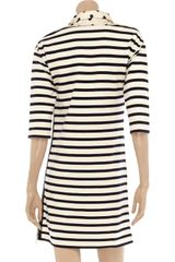 Sonia By Sonia Rykiel Striped Cotton Dress in Beige - Lyst