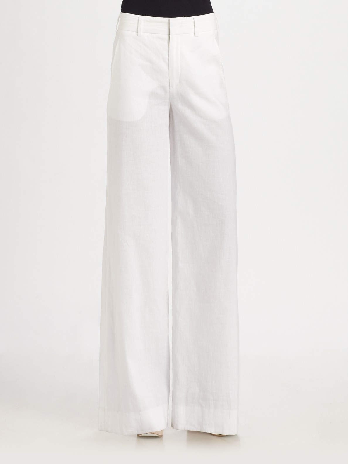 high waisted white linen pants - Pi Pants