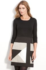 DKNY Colorblock Skirt Sheath Dress - Lyst