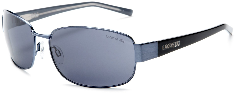 Mens Blue Frame Glasses : Lacoste Mens La Metal Acetate Sunglasses in Blue for Men ...