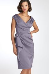 Maggy London Stretch Satin Sheath Dress - Lyst