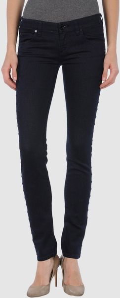 Calvin Klein Jeans Denim Trousers in Blue - Lyst