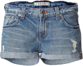 J Brand Blue Vintage Jeans Hot Pants - Lyst