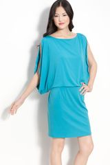 Jessica Simpson Slit Batwing Sleeve Jersey Dress - Lyst
