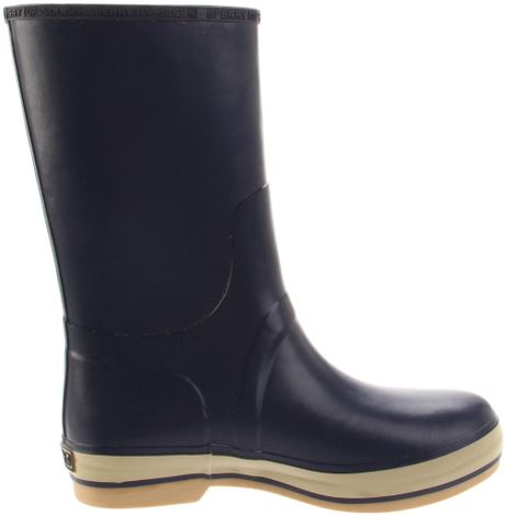 Sperry Top Sider Mens Rubber Rain Boot In Blue For Men Lyst