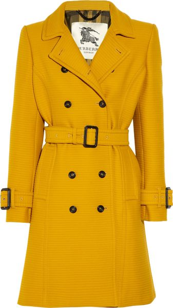 Burberry Ribbed Cotton and Wool-blend Trench Coat - Lyst