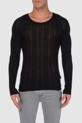 Just Cavalli Crewneck Sweaters - Lyst