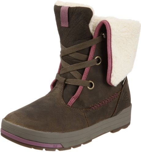 Cool Keen Snowmass Mid Snow Boots  Waterproof FauxShearling Lining For